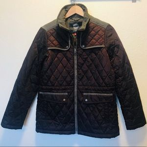 Vince Camuto Quilted Jacket with Velvet Trim